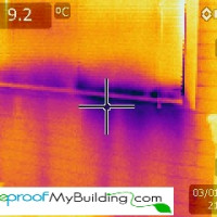 poorly installed window detected with thermal imaging