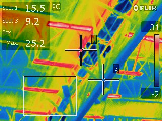 commissioning a rink, thermal imaging a rink
